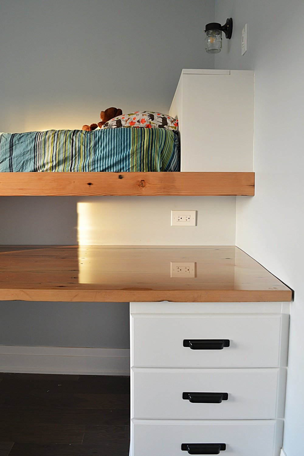 shared boys bedroom loft bed