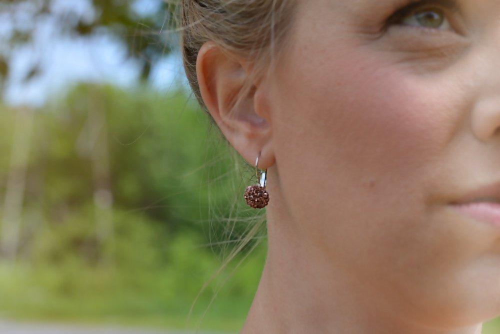 how to make faux druzy resin earrings