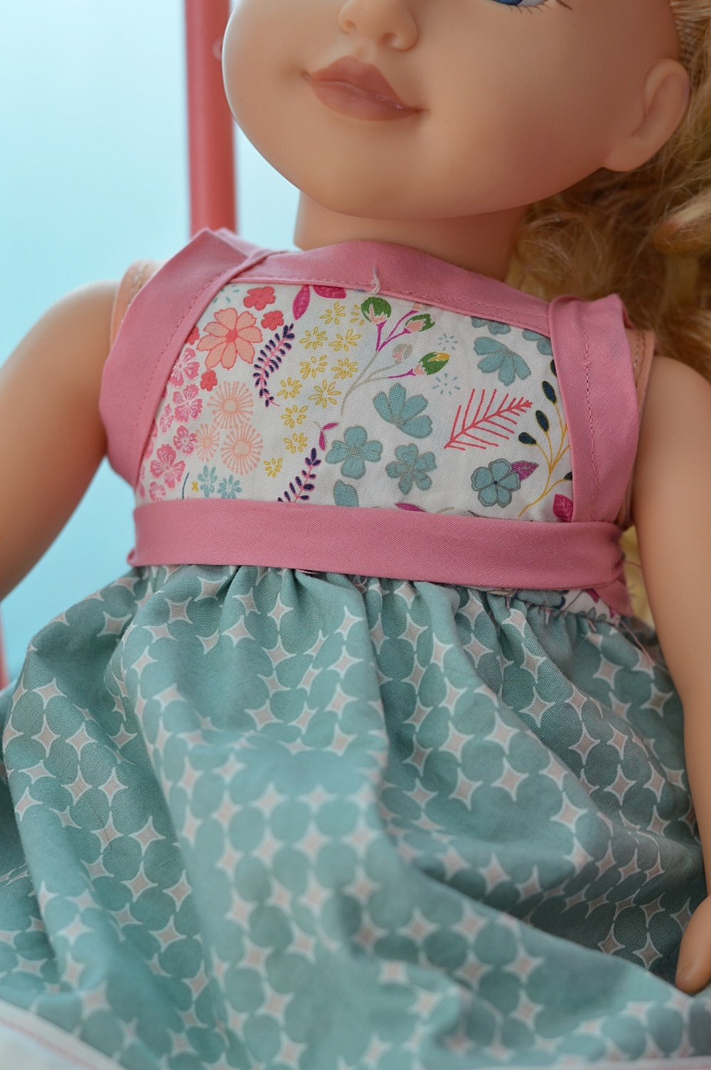 doll clothes pattern wrap dress