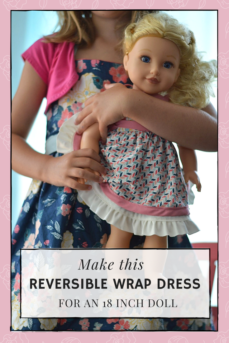 reversible wrap dress doll clothes pattern