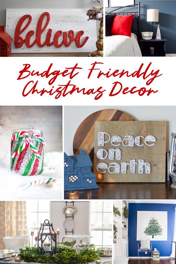 Budget friendly Chrismtas Decor. Budget friendly string art