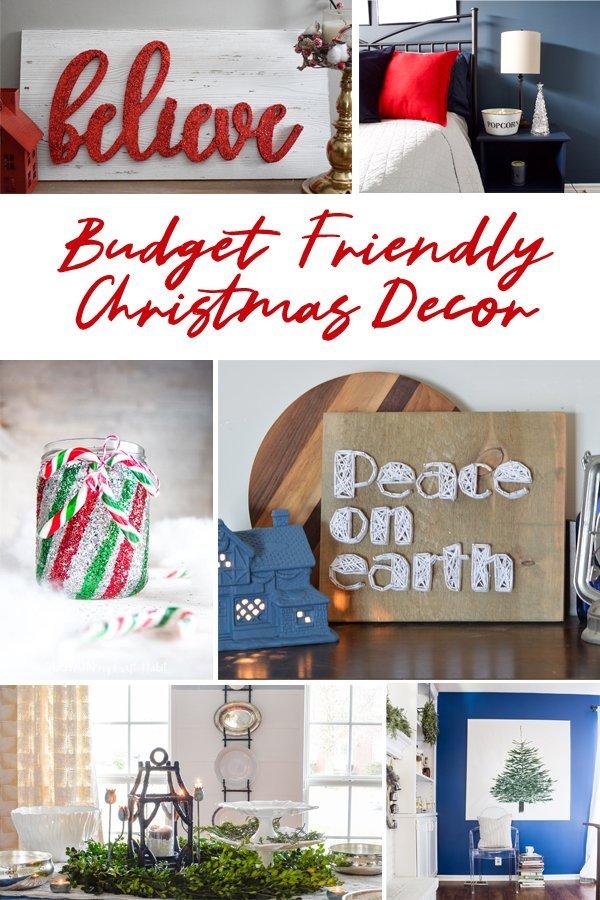 Budget friendly Chrismtas Decor. Budget friendly string art