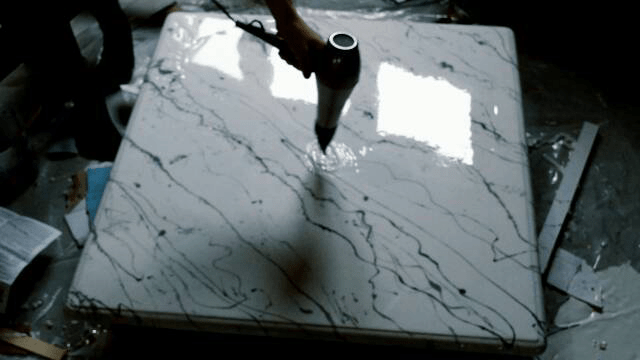 How to make a faux marble coffee table using epoxy resin