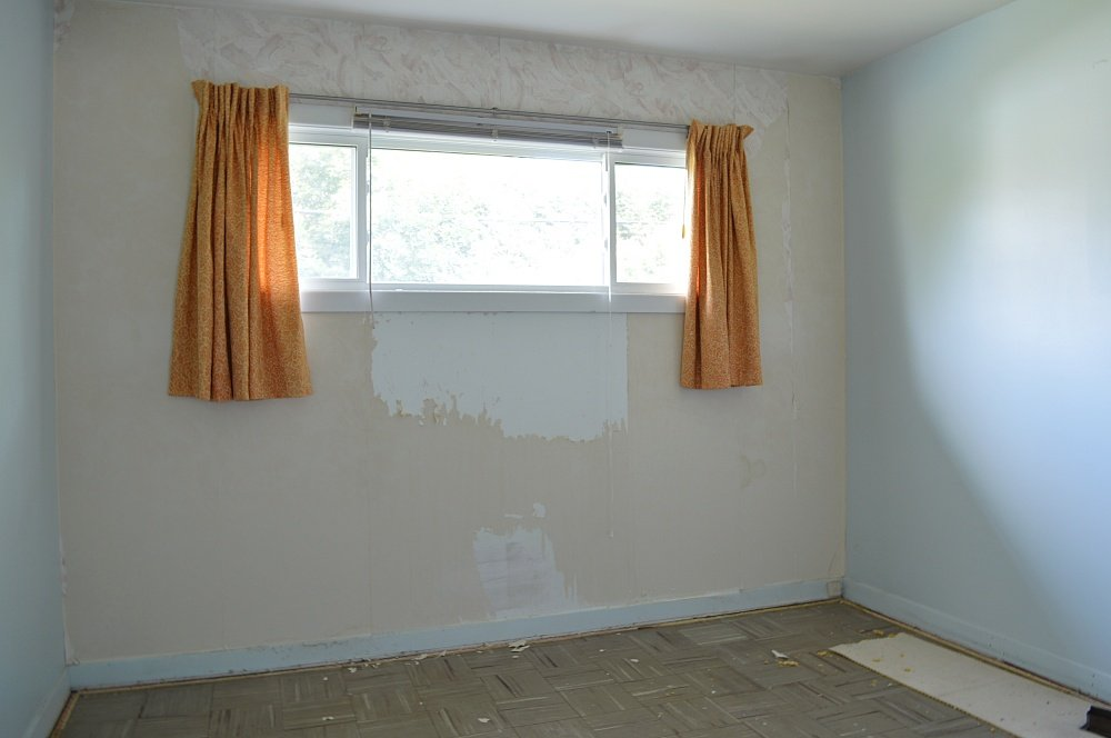 taking out the carpet in a rental house