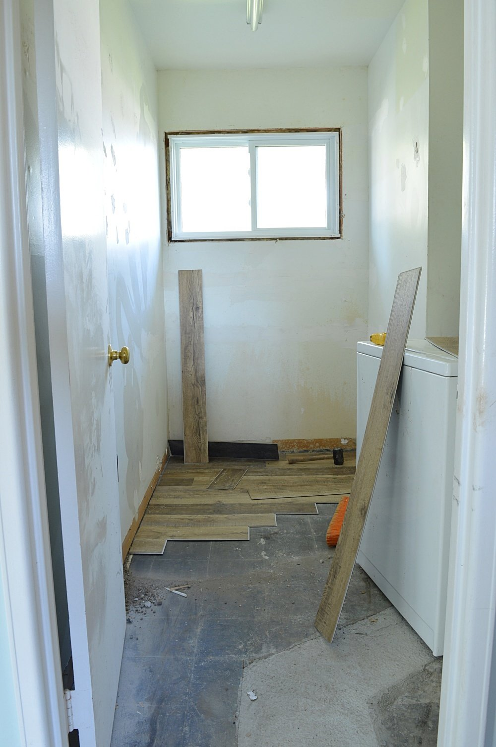 goodfellow vinyl plank flooring in a rental property