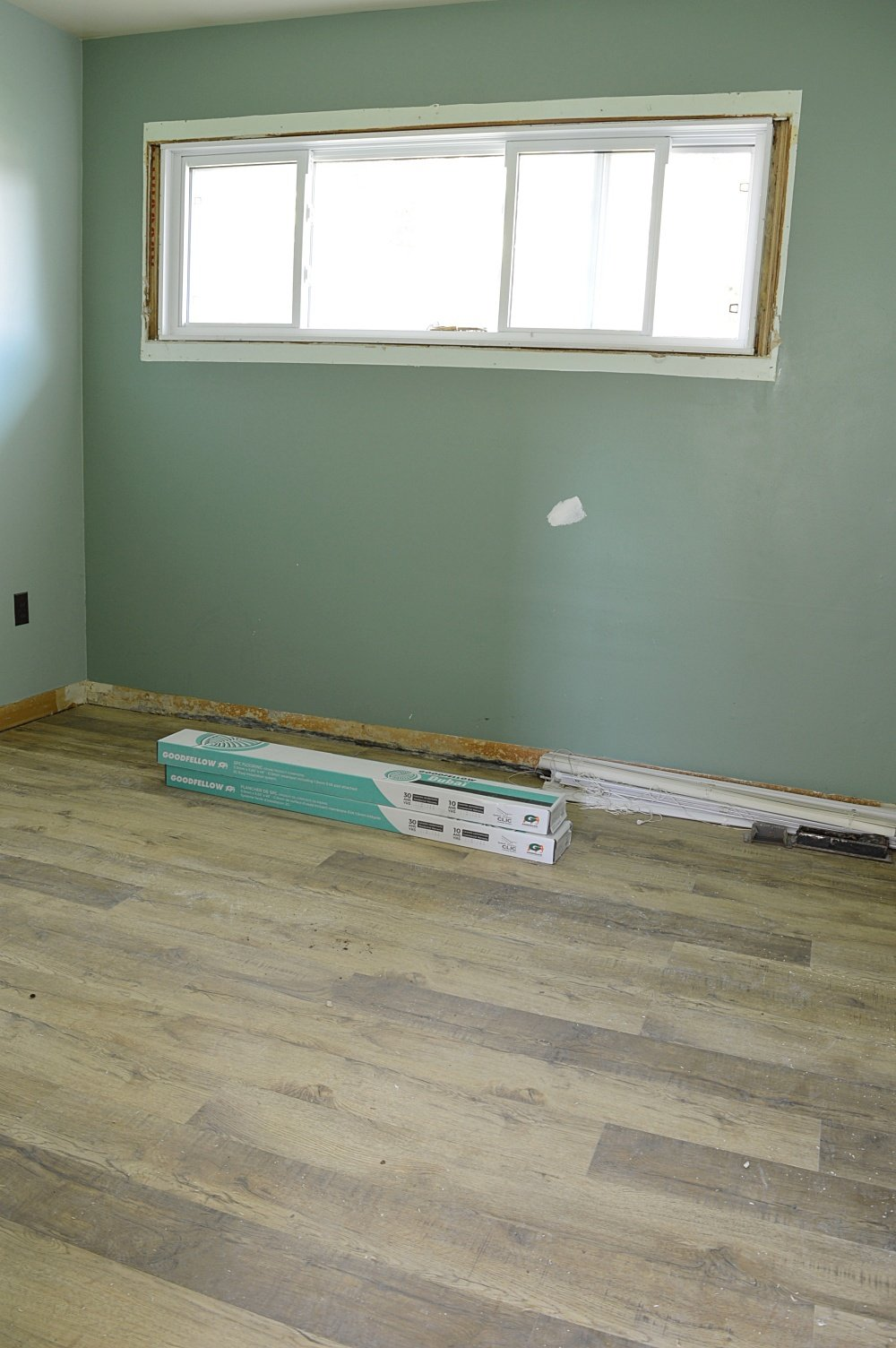 goodfellow vinyl plank flooring in a rental property