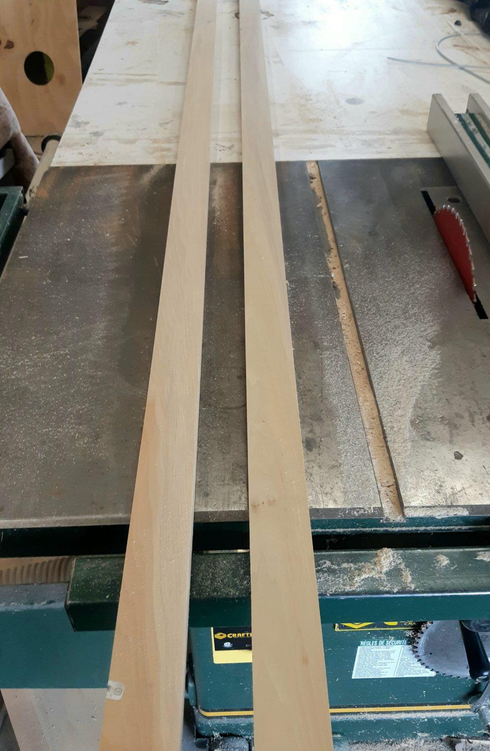 poplar wood for a display shelf