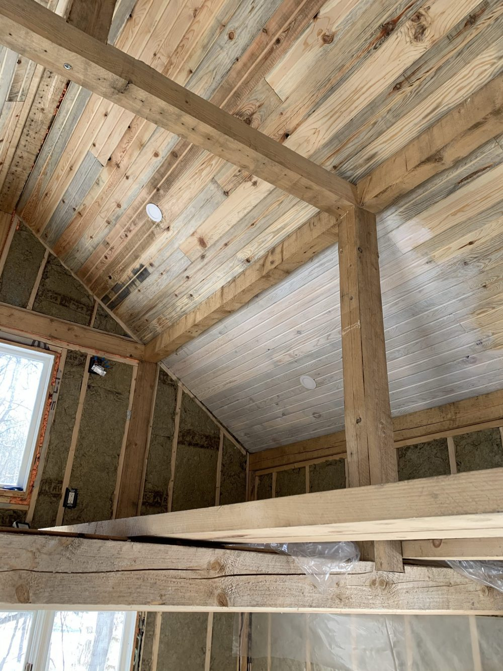 pine cabin ceiling