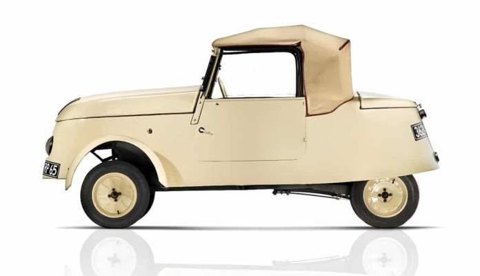 Peugeot VLV electric van from WWII times