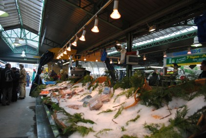 Inside the market.