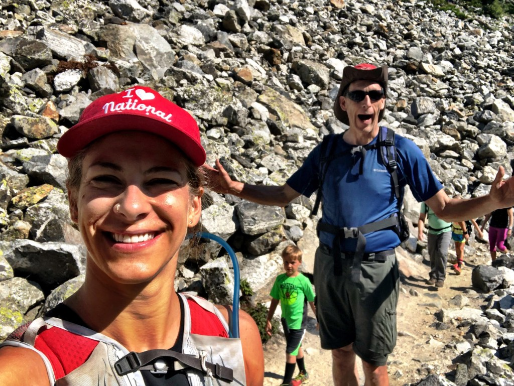 Emily and Chuck excited about Lake Solitude hike in Grand Tetons