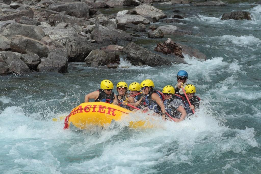 Glacier Rafting Emily, Jacky, and Stacy Glacier National Park