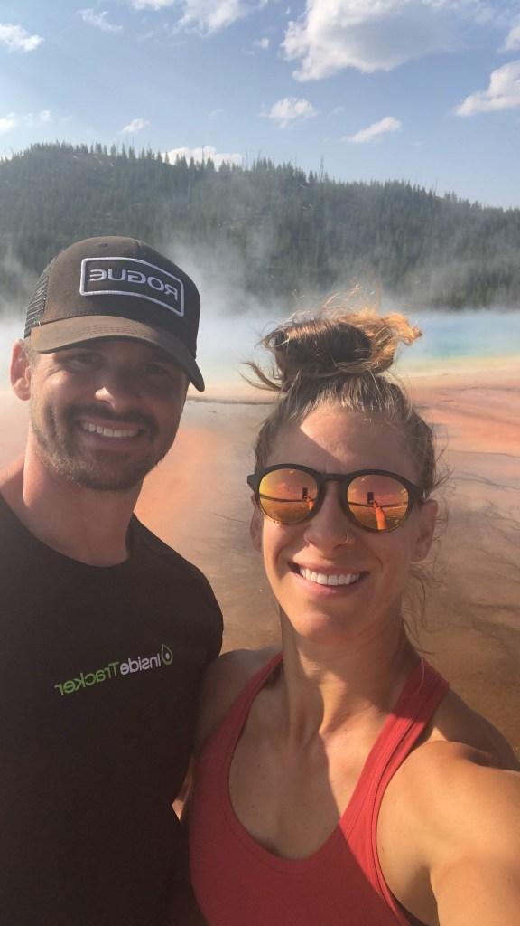 Joe and Emily at Yellowstone National Park pools