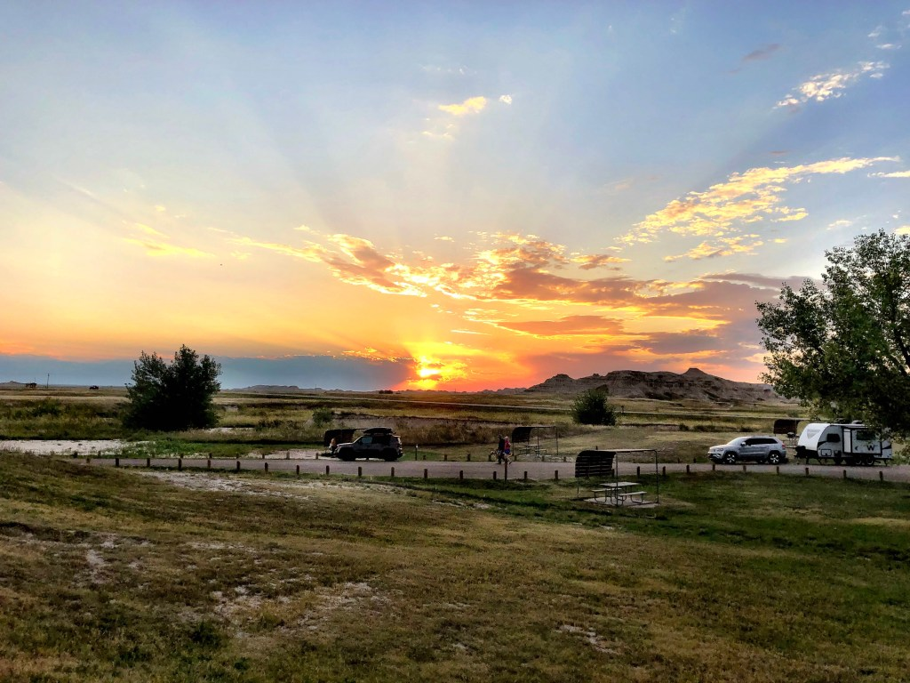 Amazing Sunset from Badlands National Park from van life