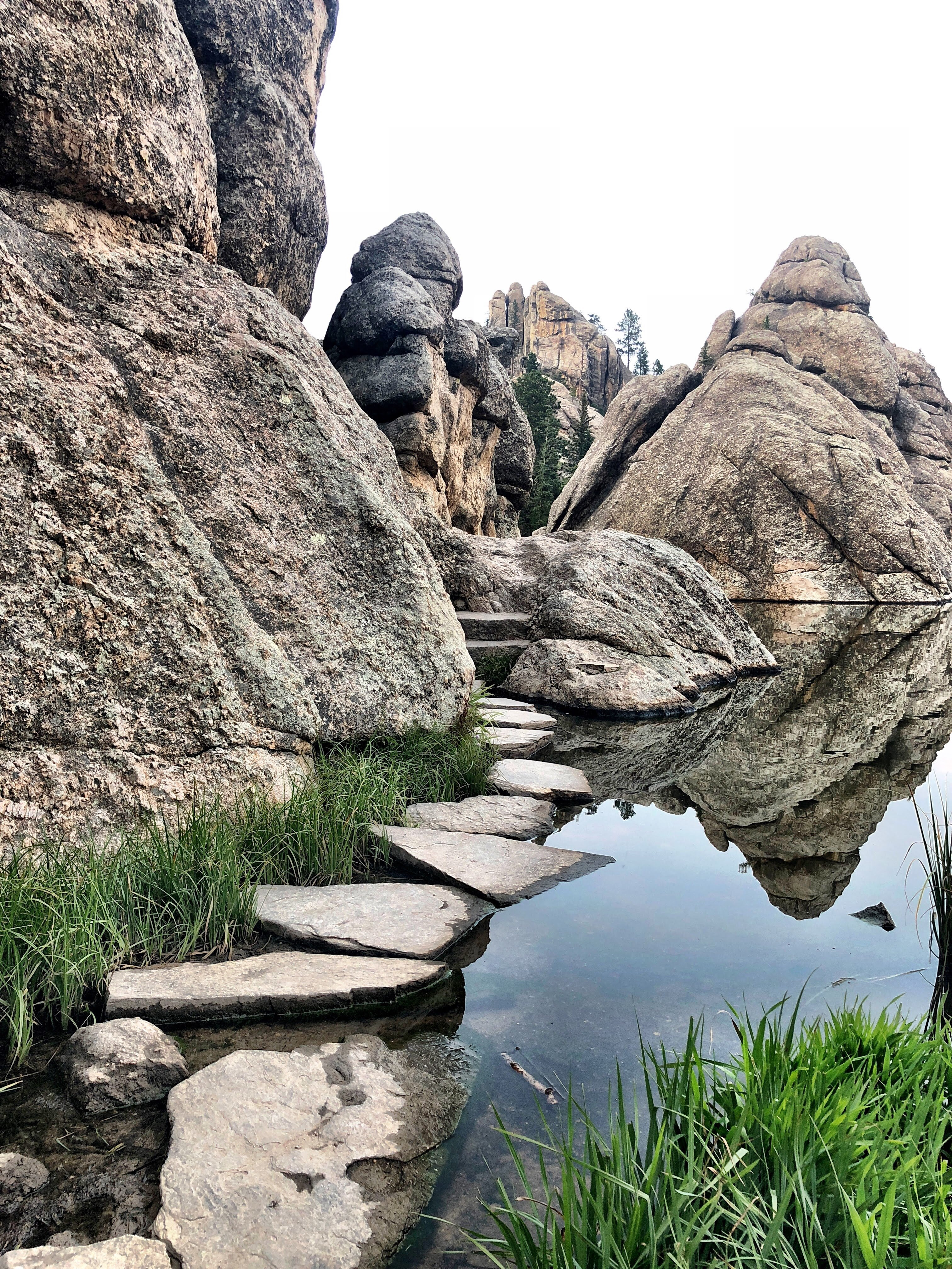 Custer State Park rock trail on the vantastic life