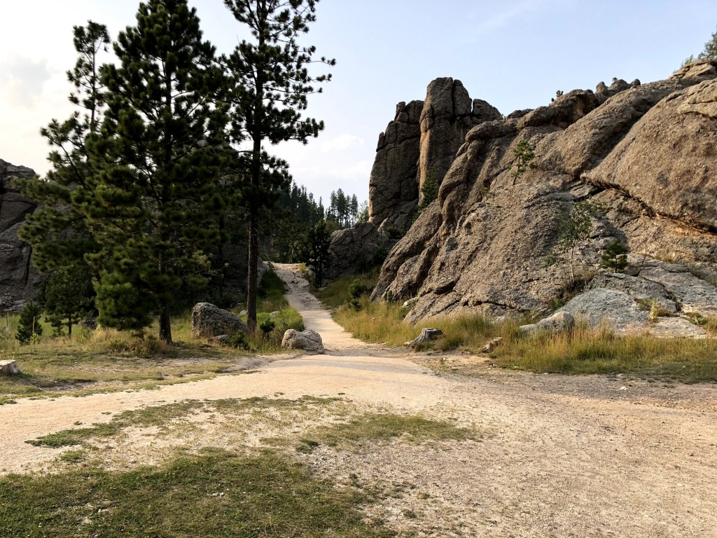 Custer State Park trail on the vantastic life