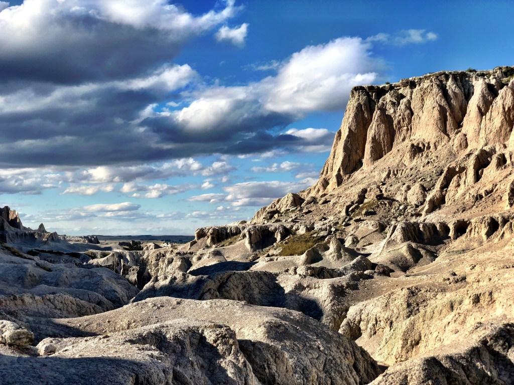 Hiking Views at Badlands National Park van life
