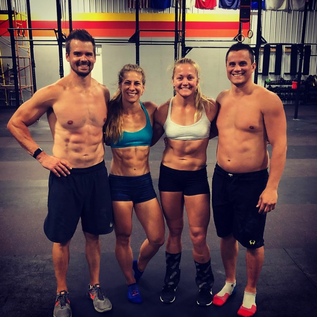 Joe, Emily, Karla, and Lucas after a workout at EHP CrossFit in Moorhead MN.