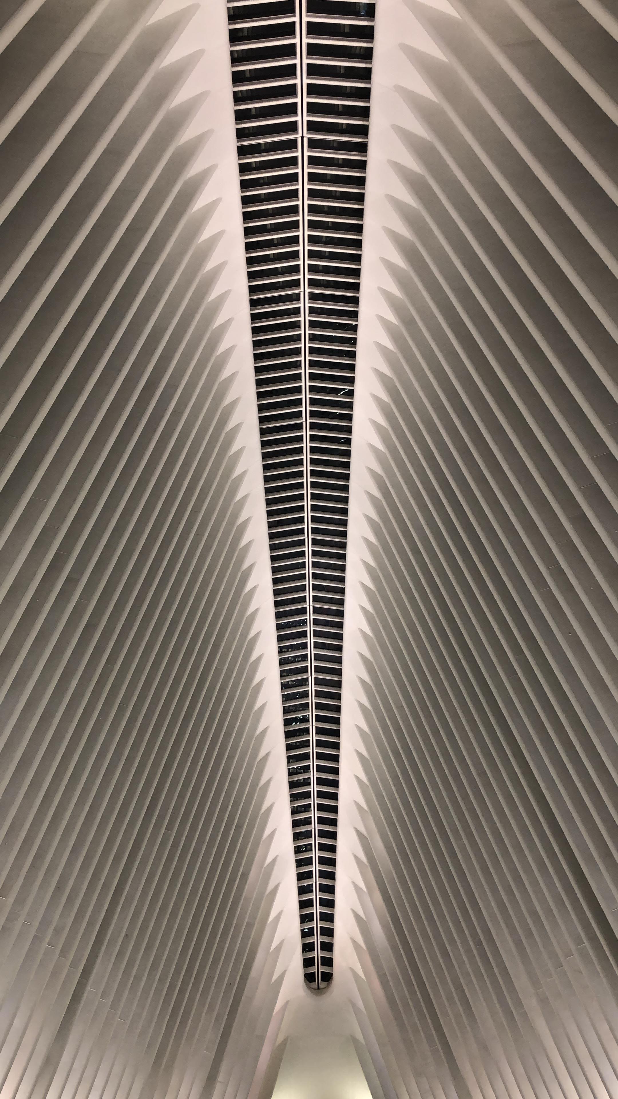 911 memorial upside down v at night