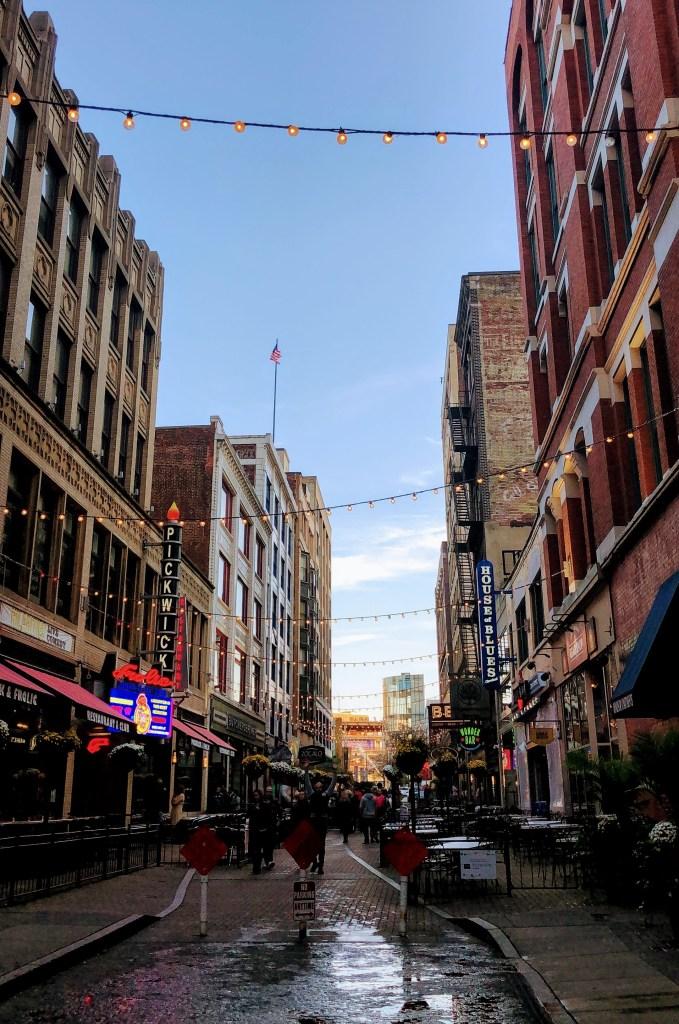 Downtown Cleveland walking around