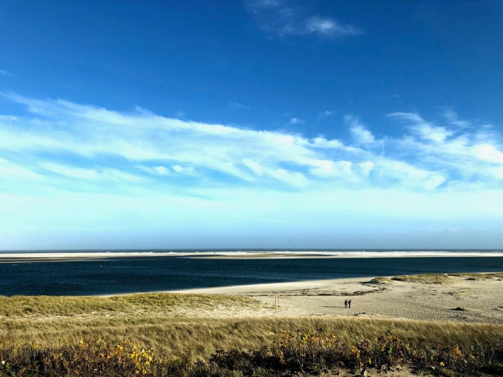 Views from van of Cape Cod Beach