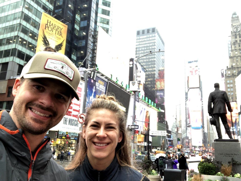 Joe and Emily in Times Square (Emily's first time)