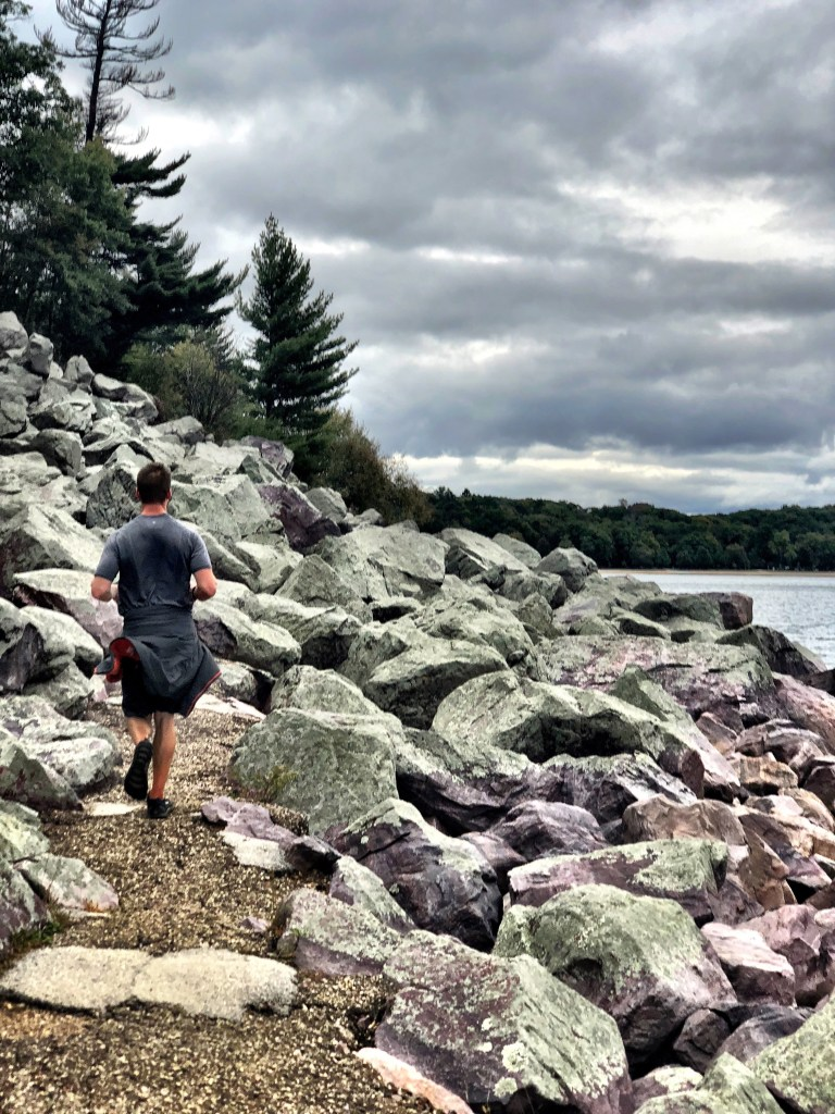 Finishing up a 7 mile run around Devil's Lake State Park