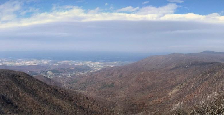 Panorama Amazing views from Shenandoah National Park
