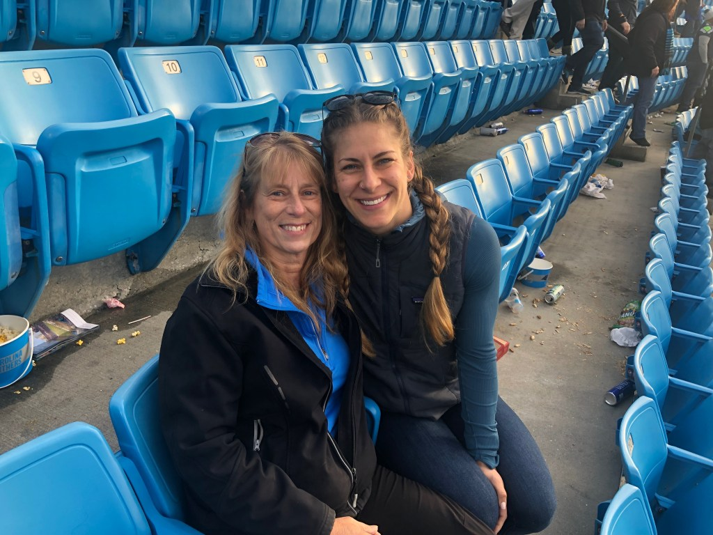 Aunt Joanne and Emily at Seahawks game