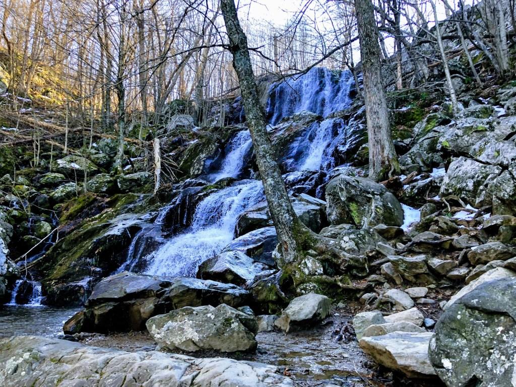 Beautiful cold waterfall