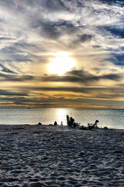 Sunset at Casey Key in Florida