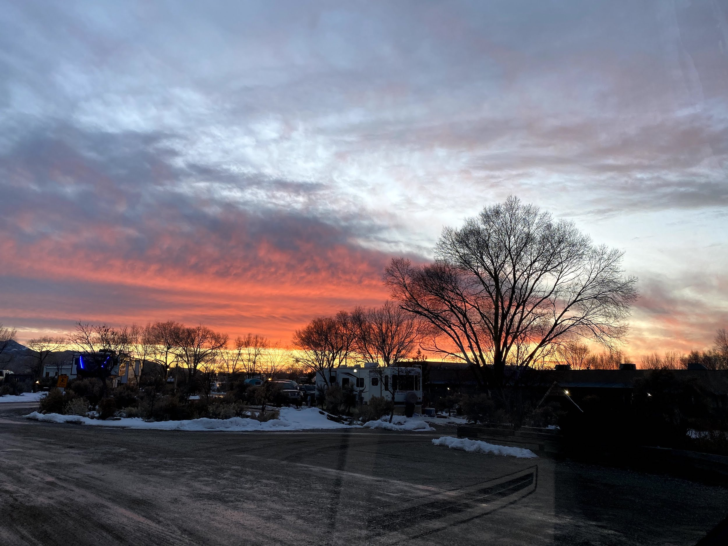 Sunset at Taos Valley RV Park