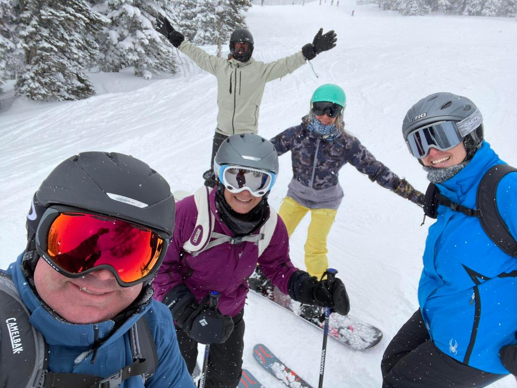 Our crew skiing and snowboarding at Steamboat Springs on IKON pass