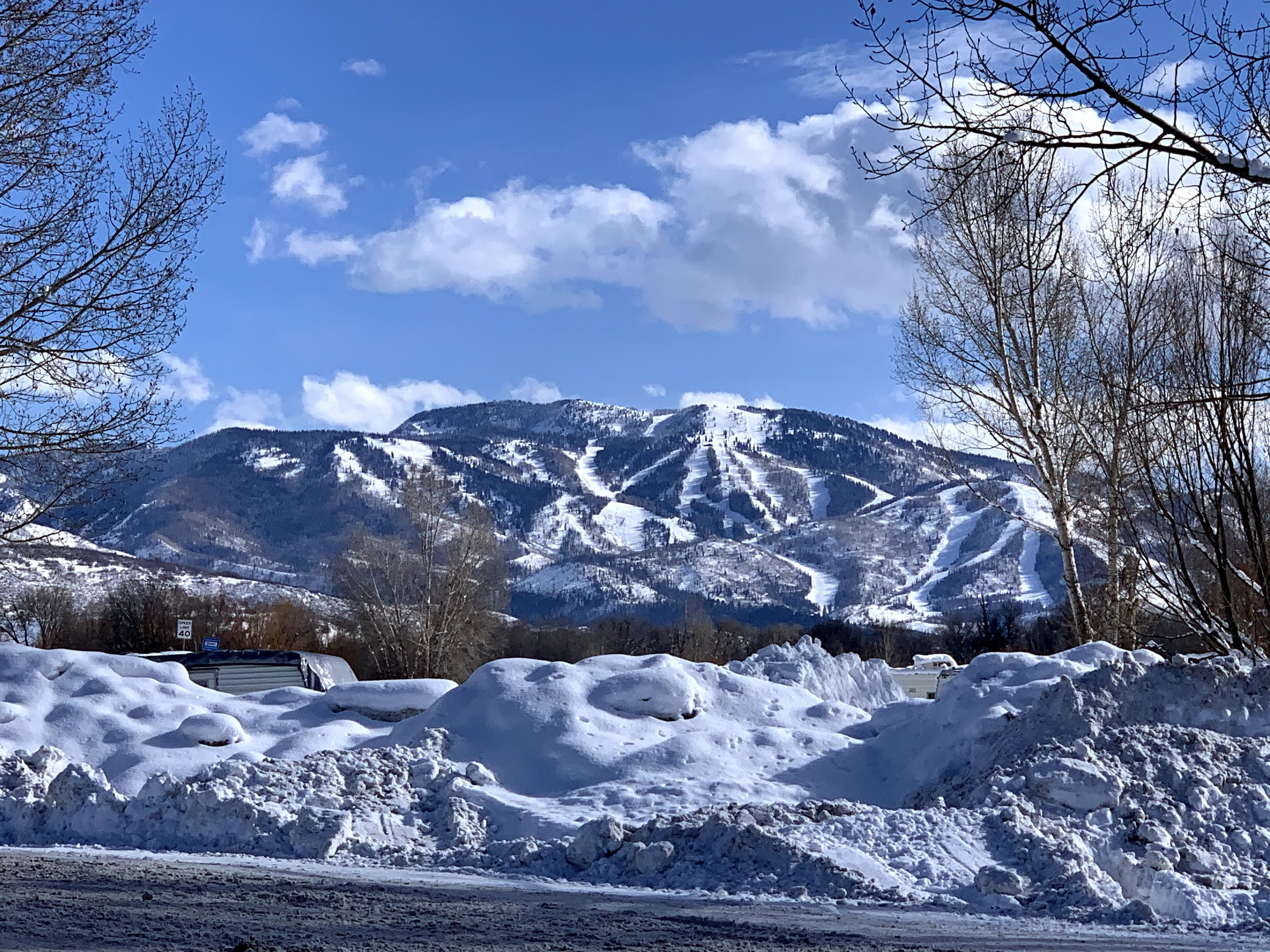 View of Steamboat Springs from KOA campground