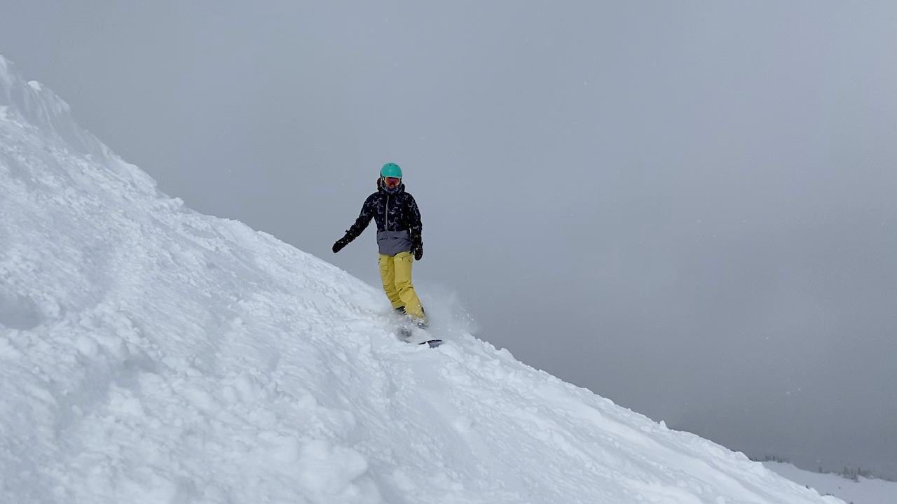 Emily riding at Copper Mountain