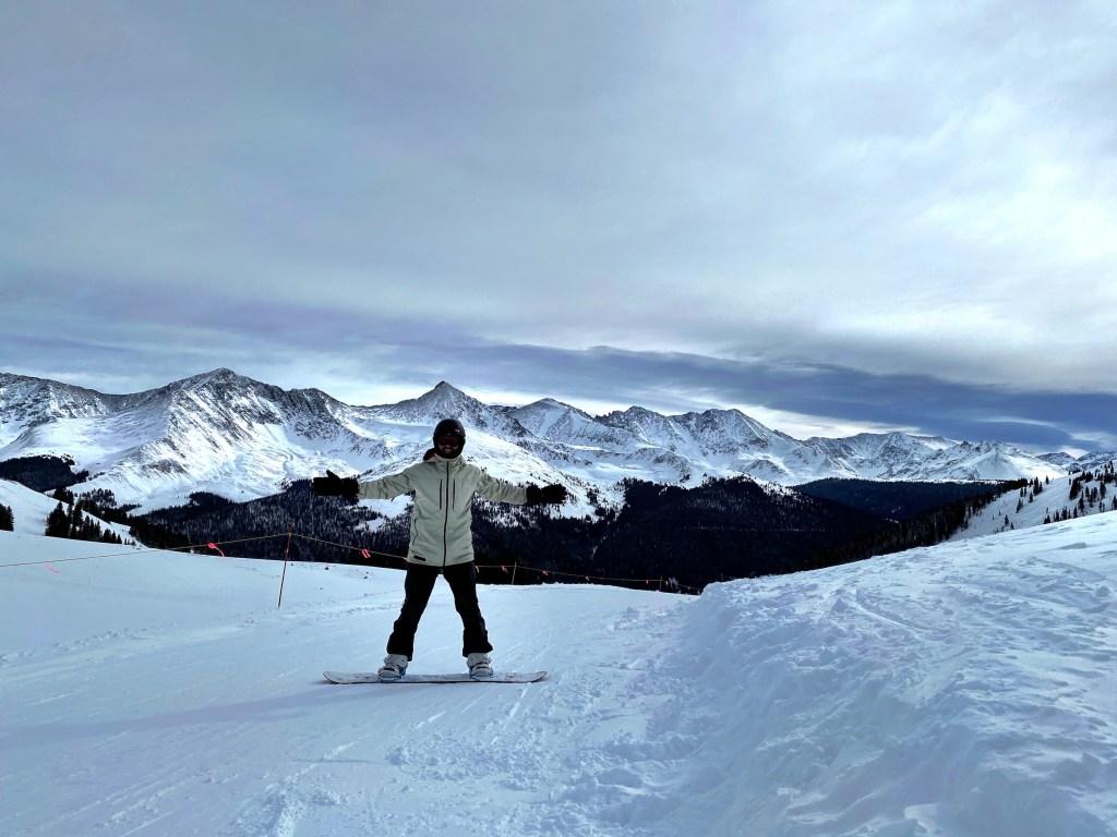 Joe headed toward back side of Copper Mountain