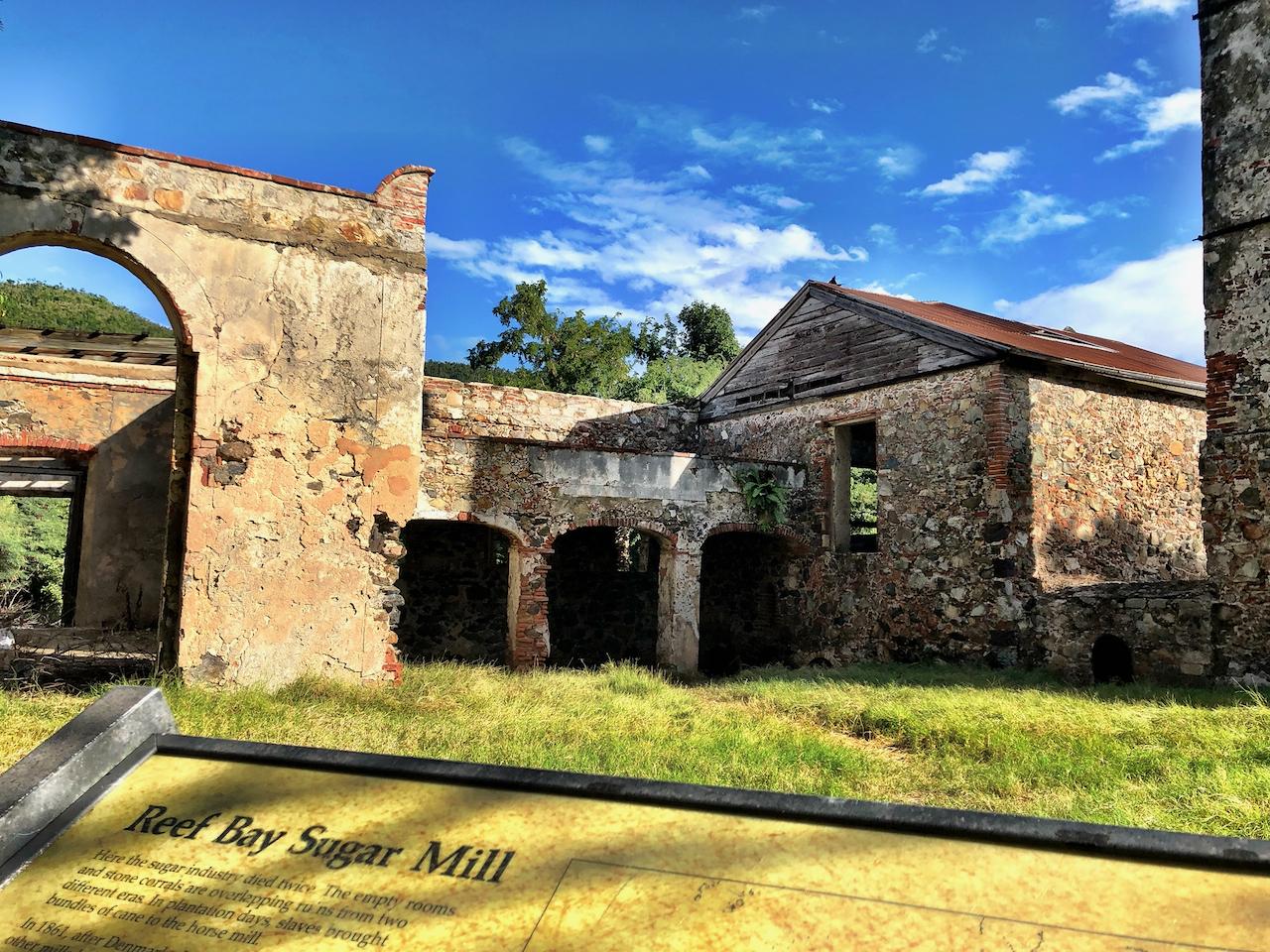Reef Bay Sugar Mill Ruins on US Virgin Islands National Park St John