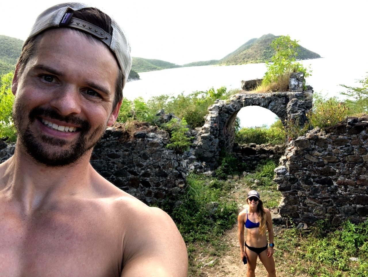 Joe and Emily Ruins near Waterlemon Bay in US Virgin Islands National Park