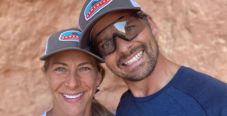 Emily and Joe in Bryce Canyon National Park with Momentum Vans hats on
