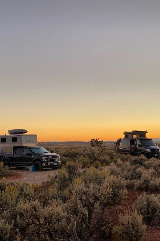 Van life and camper life at the Dark Sky RV Resort in Kanab UT