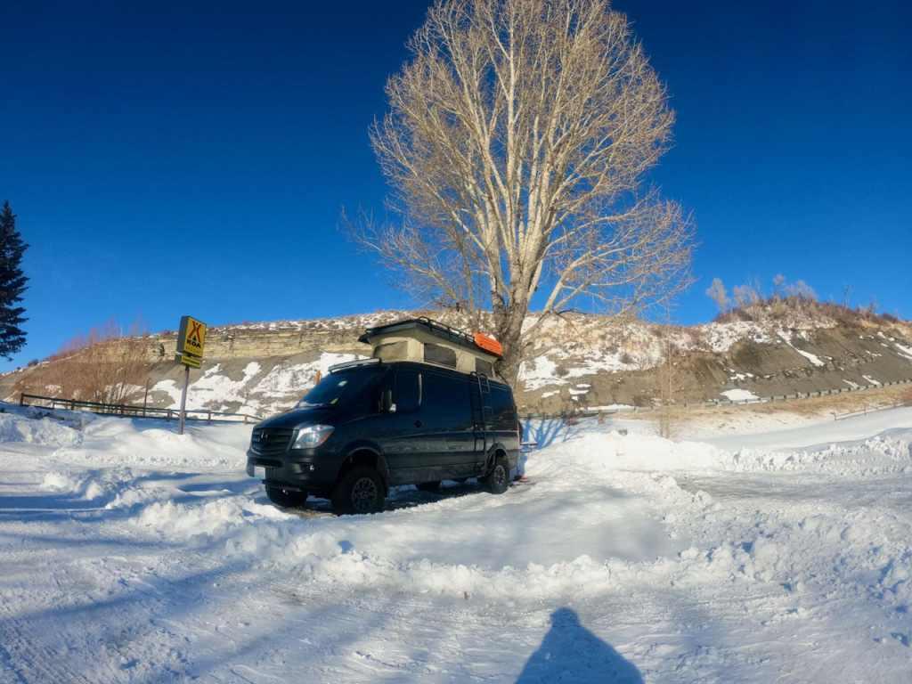 Van life in the Steamboat Springs KOA.