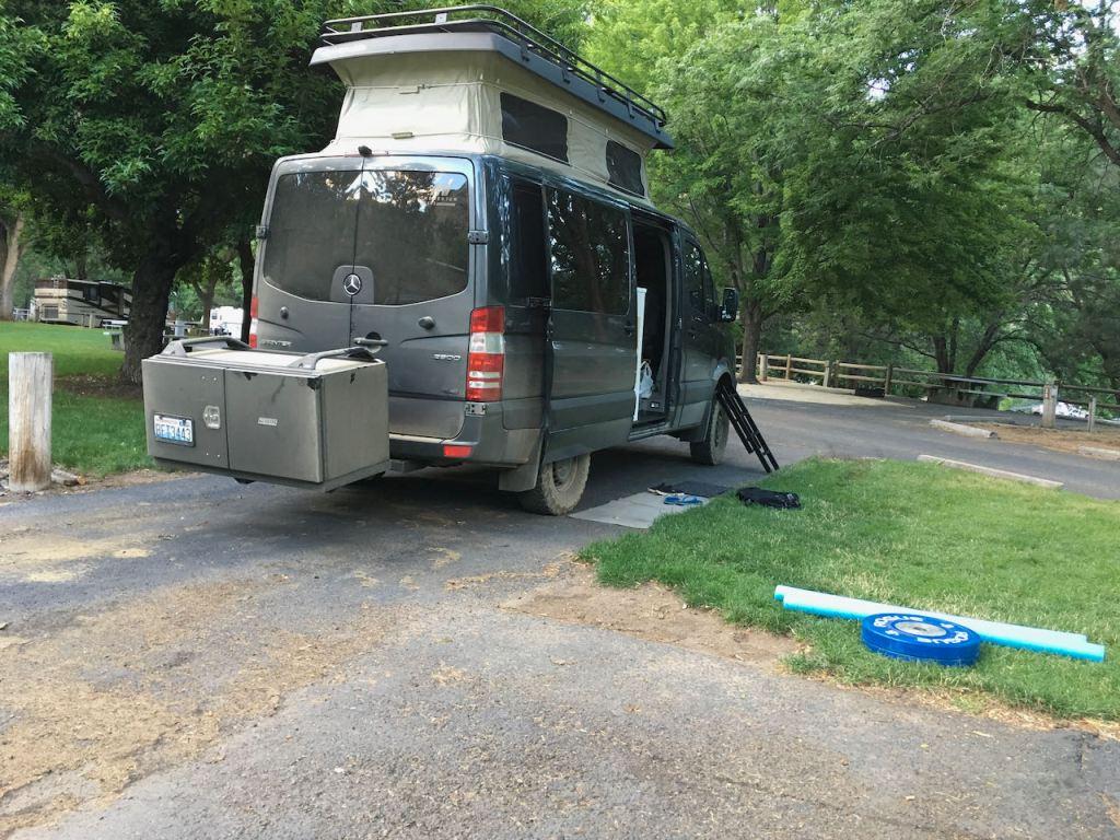 Pop top van life at Hells Canyon - Idaho Power Campground.