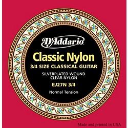 D'Addario EJ27 Nylon Classical Guitar Strings - 3/4 Size Standard