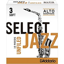 D'Addario Woodwinds Select Jazz Unfiled Alto Saxophone Reeds