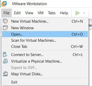 VMware Workstation Import OVA