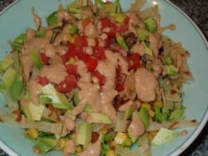 Vegan Black Bean Bowl | Mexican Rice | Creamy Taco Dressing