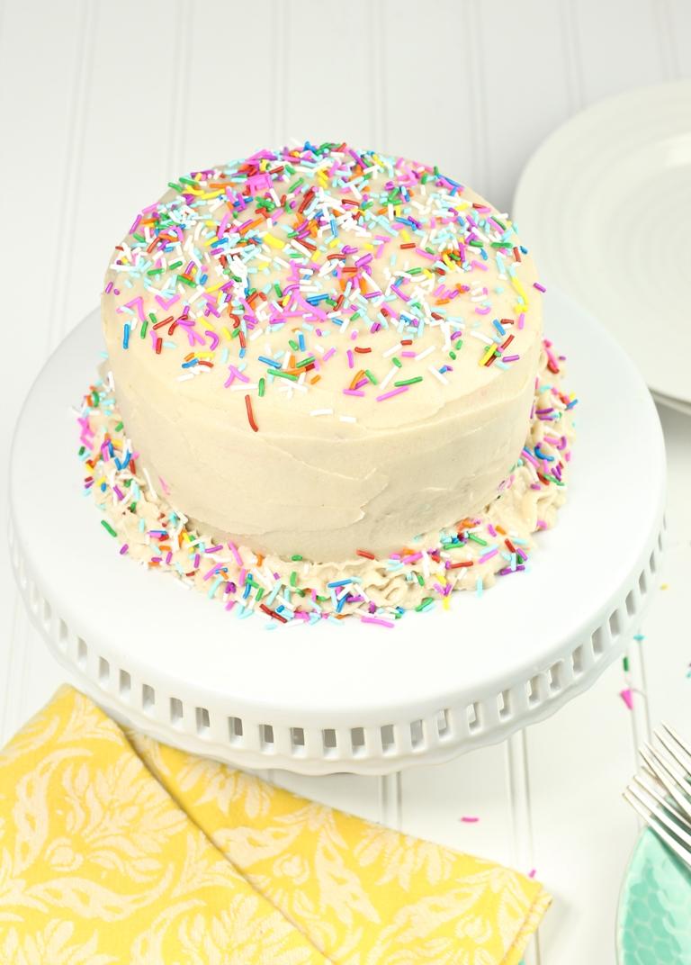 Vegan Gluten Free Funfetti Birthday Cake The Vegan 8