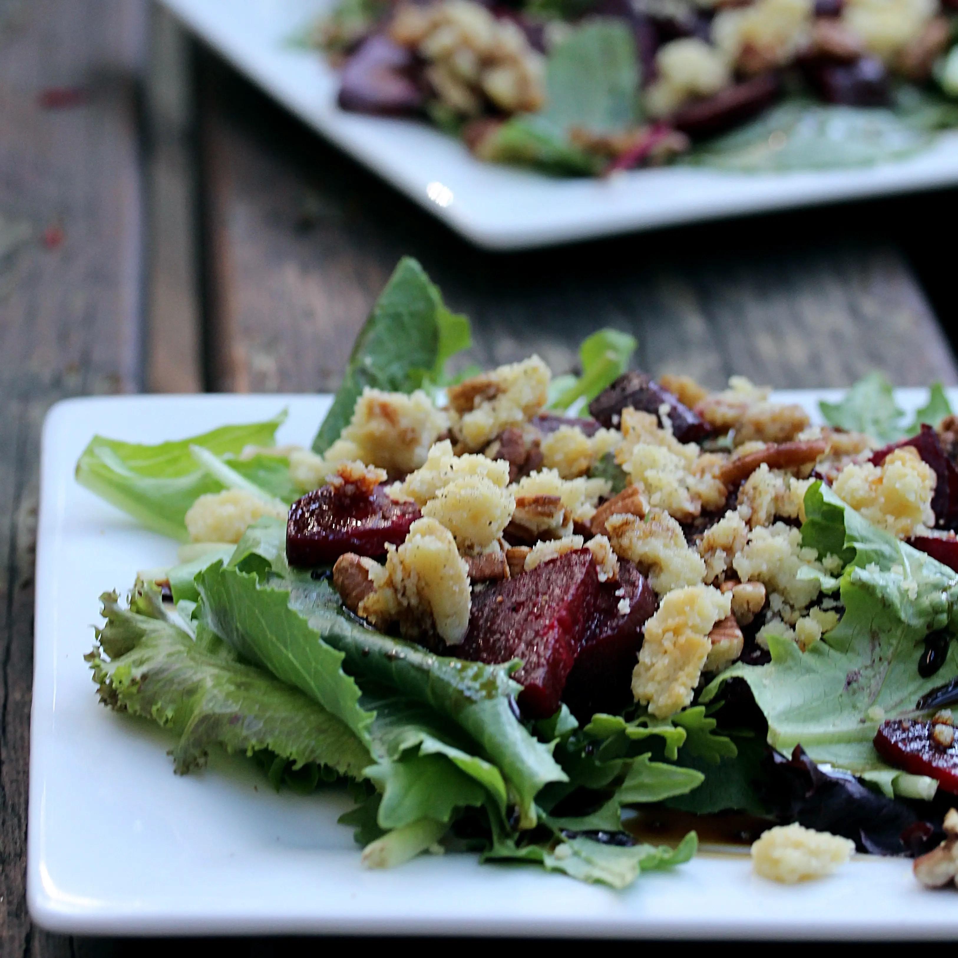 Roasted Beet Salad w/ Almond Feta