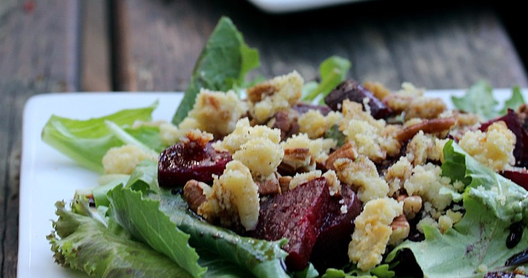 Roasted Beet Salad w/ Almond Feta