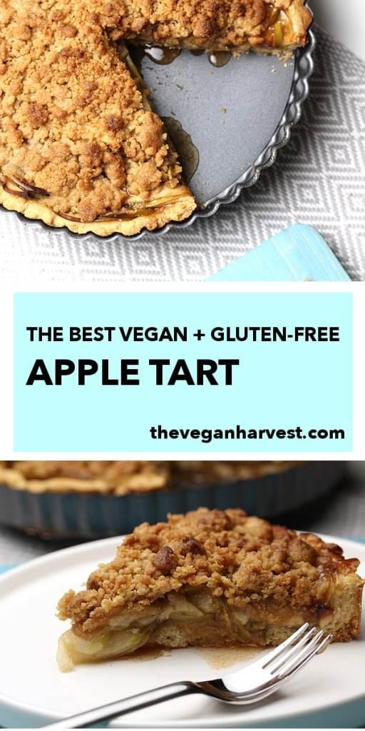 pinterest pin for vegan gluten-free apple tart
